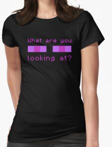 Stop Looking at Me Womens Fitted T-Shirt