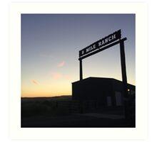 9 Mile Ranch at dusk Art Print