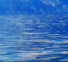 Duck on a mountain lake Sticker
