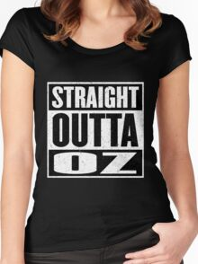 Straight Outta Oz - Dorothy & Toto in the Hood - Movie Mashup - Not in Kansas Anymore Women's Fitted Scoop T-Shirt