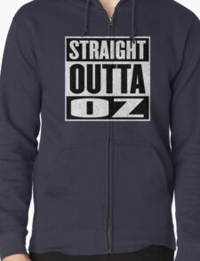 Straight Outta Oz - Dorothy & Toto in the Hood - Movie Mashup - Not in Kansas Anymore Zipped Hoodie