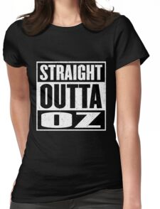 Straight Outta Oz - Dorothy & Toto in the Hood - Movie Mashup - Not in Kansas Anymore Womens Fitted T-Shirt