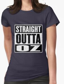 Straight Outta Oz - Dorothy & Toto in the Hood - Movie Mashup - Not in Kansas Anymore Womens T-Shirt