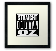 Straight Outta Oz - Dorothy & Toto in the Hood - Movie Mashup - Not in Kansas Anymore Framed Print