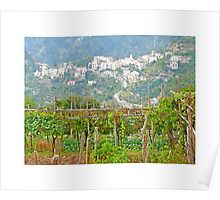 Ravello: landscape countryside Poster