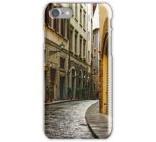 Impressions Of Florence - Walking on the Silver Street in the Rain iPhone Case/Skin
