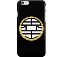 BIG KAIOU kanji - King Kai's robe iPhone Case/Skin
