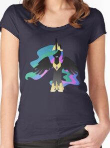 Monochrome Celestia Women's Fitted Scoop T-Shirt