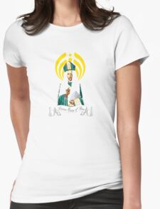 Patron Saint of Bass Womens Fitted T-Shirt