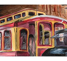 San José Trolley Barn 1 by Amy-Elyse Neer