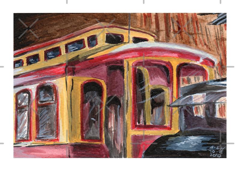 San José Trolley Barn 1 by Amy-Elyse Neer