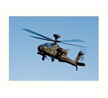 AH1 Apache Attack Helicopter Art Print