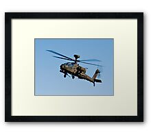 AH1 Apache Attack Helicopter Framed Print