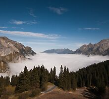 Sea of Cloud in Melchtal, Switzerland by Mark Howells-Mead