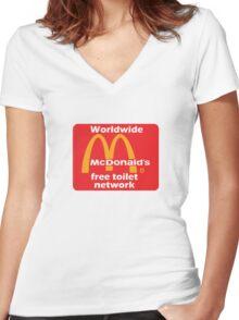 mcToilet Women's Fitted V-Neck T-Shirt