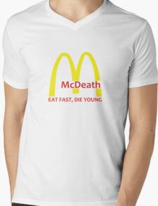 McDeath Mens V-Neck T-Shirt