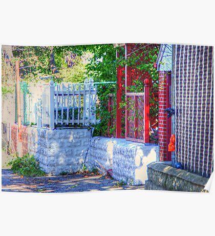 Backyard fence Poster