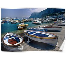 Small Boats in  Marina Grande Poster