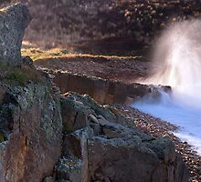Breaker At Clashach Cove by Blackgull