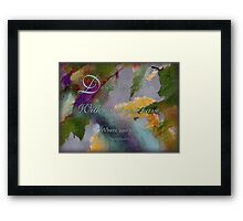 do with what you have -wisdom saying no.2 Framed Print