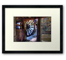 Wheel in Motion Framed Print