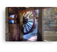 Wheel in Motion Metal Print