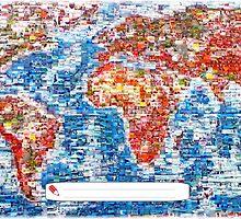 Vintage Global Positioning System (GPS) postcard by patjila