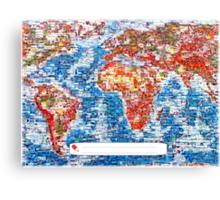 Vintage Global Positioning System (GPS) postcard Canvas Print