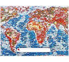 Vintage Global Positioning System (GPS) postcard Photographic Print