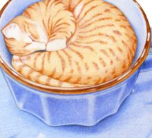 Cat in Coffee Sticker
