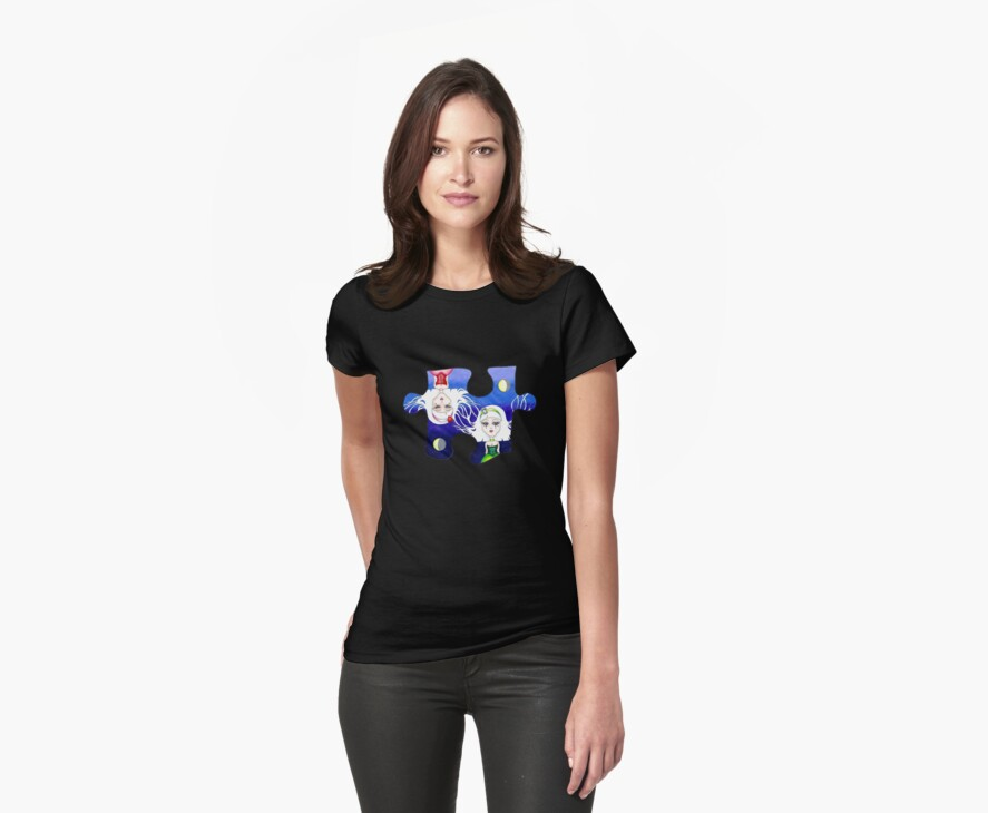 Two Pieces T-Shirt by Lynsye Medalia