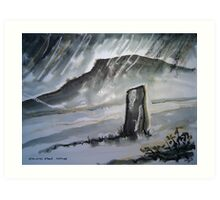 'Standing Stone, Arthog' Art Print