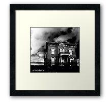 Creepy Abandoned House Framed Print