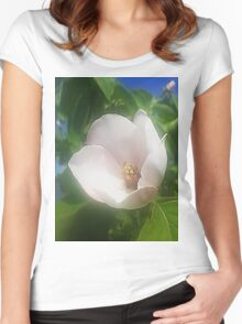 Fruit flower Women's Fitted Scoop T-Shirt