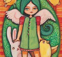 Green easter angel by AngelsTrail