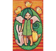 Green easter angel Photographic Print