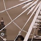 Liver Building Clock Through Wheel. by Stan Owen