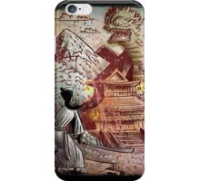 Kaiju, Samurai, Art, Monster, Godzilla, drawing, ultraman, gamera, japanese, sci fi, horror, science fiction, japan, sword, joe badon iPhone Case/Skin