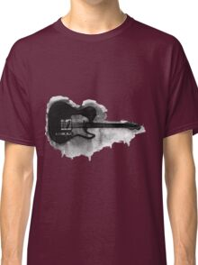 black and white electric guitar Classic T-Shirt
