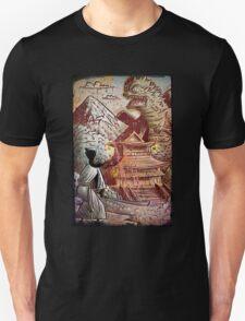 Kaiju, Samurai, Art, Monster, Godzilla, drawing, ultraman, gamera, japanese, sci fi, horror, science fiction, japan, sword, joe badon Unisex T-Shirt