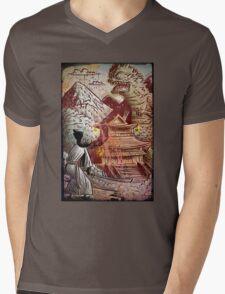 Kaiju, Samurai, Art, Monster, Godzilla, drawing, ultraman, gamera, japanese, sci fi, horror, science fiction, japan, sword, joe badon Mens V-Neck T-Shirt