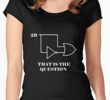 Hamlet to be or not 2B Women's Fitted Scoop T-Shirt