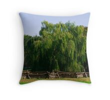 Close Up Willow Tree Throw Pillow