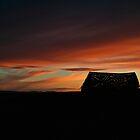Sun Setting on Old Barn by sagemountain
