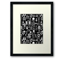 Magical Possessions Pattern Framed Print