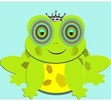 Funny Prince Charming Cartoon Frog Photographic Print