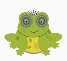 Funny Prince Charming Cartoon Frog Kids Tee