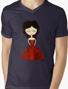 Red princess Mens V-Neck T-Shirt