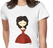 Red princess Womens Fitted T-Shirt