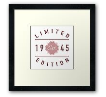 1945 Limited Edition Framed Print